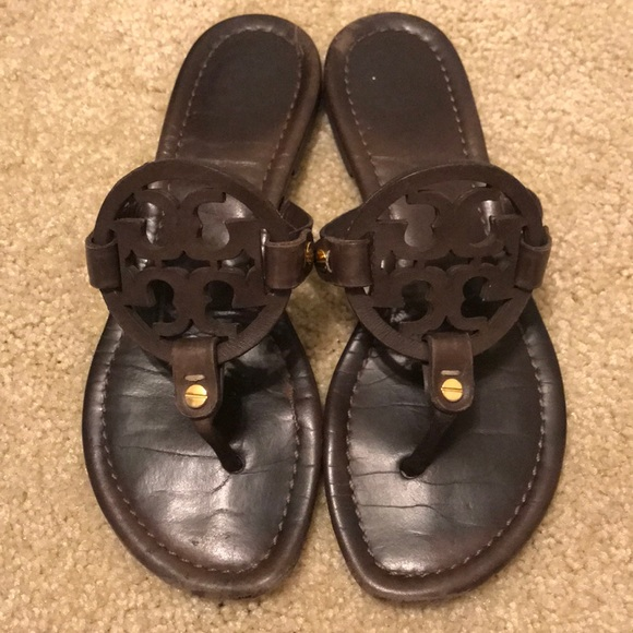 5643adce0ecfec Tory Burch Shoes - Tory Burch chocolate brown Miller sandals 5.5